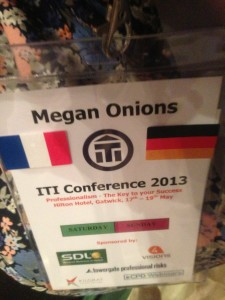ITI Conference 2013, name tag