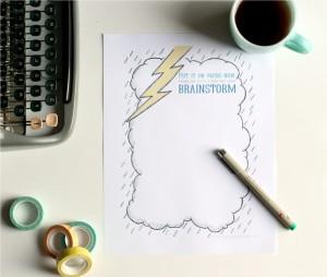 Free printable brainstorming sheet via http://www.theflourishingabode.com